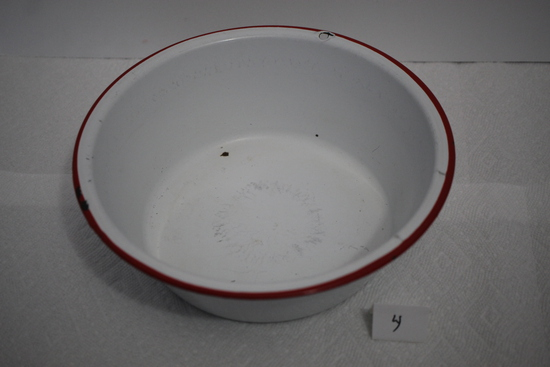 "Enamel Ware Bowl, 10 1/4"" round"