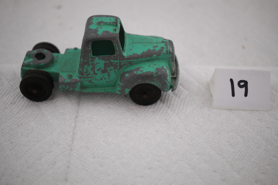 Vintage Tootsie Toy Truck Cab, Chicago #24, Metal, 4""