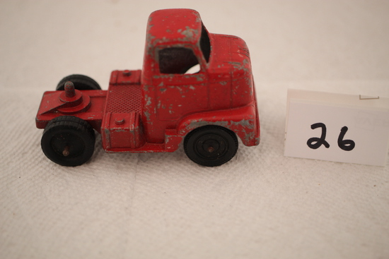 Vintage Tootsie Toy Truck Cab, Chicago #24, Metal, 3 1/2""