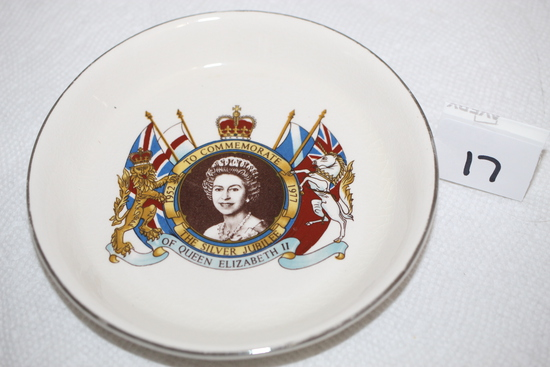 The Silver Jubilee Of Queen Elizabeth II Commemorative Saucer, Prince William, Made In England