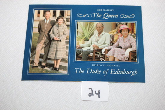 Her Majesty The Queen, His Royal Highness The Duke of Edinburgh Post Card, 1982