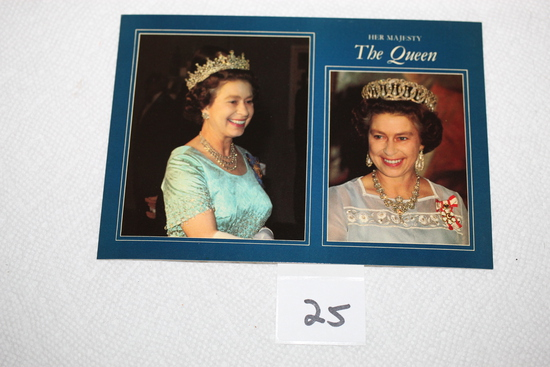 "Her Majesty The Queen Post Card, pitkin Colourmaster, Heritage Series, 6 1/2"" x 4 1/2"""