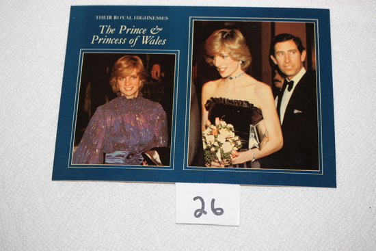 Their Royal Highnesses The Prince & Princess of Wales Post Card, Pitkin Colourmaster