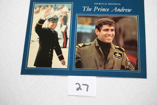 His Royal Highness The Prince Andrew Post Card, Pitkin Colour Master, Heritage Series