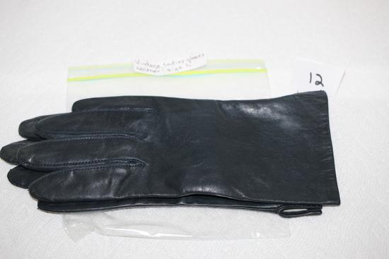 Vintage Ladies Leather Gloves, Size Large