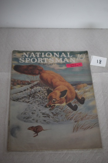 Vintage National Sportsman Magazine, February 1939