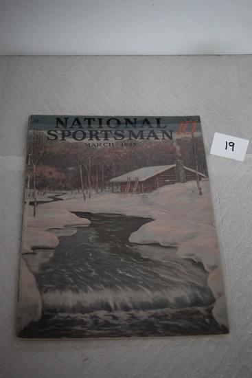 Vintage National Sportsman Magazine, March 1939