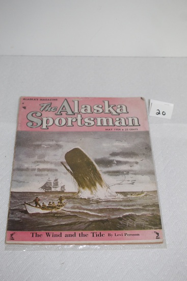 Vintage The Alaska Sportsman Magazine, May 1954