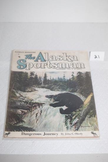 Vintage The Alaska Sportsman Magazine, December 1954