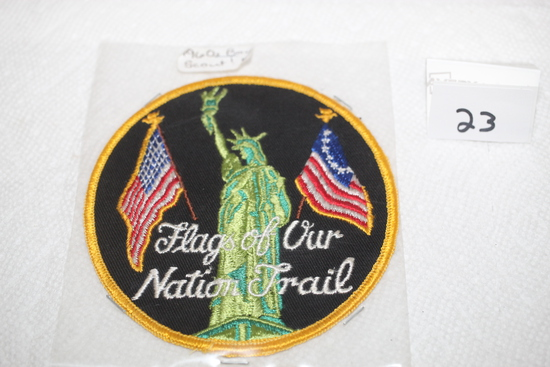 """Flag of Our Nation Trail Boy Scout Patch, 4 1/4"""" round"""