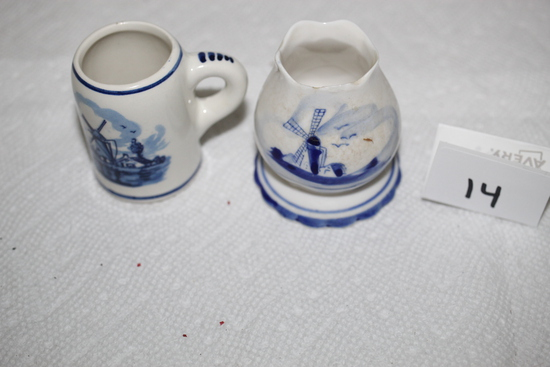 """Delft Blue Toothpick Holders, 2 1/4"""""""