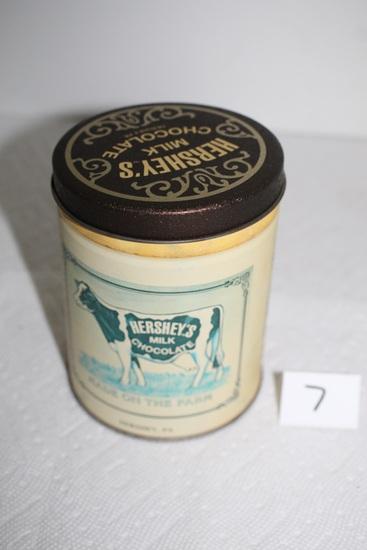 """Hershey's Milk Chocolate Tin, 5"""" x 4"""" round"""