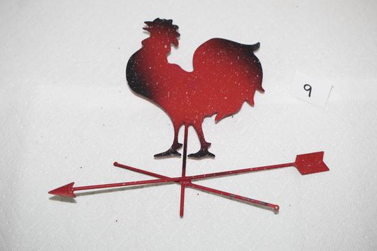 "Chicken Weather Vane Wall Hanging, Metal, 8 3/4""H x 10 1/4""W"