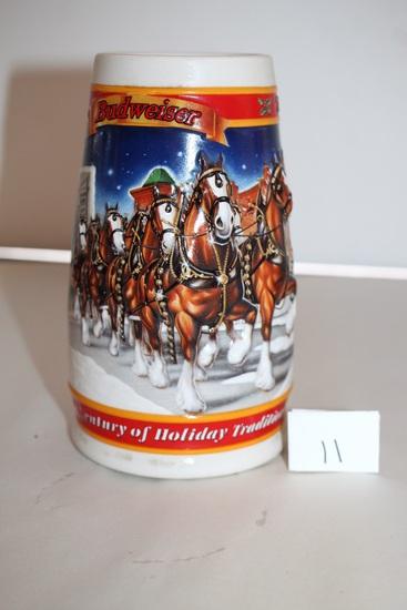 "1999 Budweiser Stein, CS389, 7 1/2"""