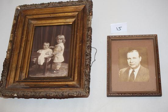 """2 Vintage Framed Pictures, 8"""" x 10"""", 4"""" x 6"""""""
