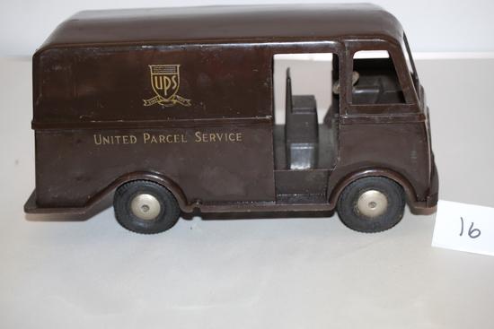 """UPS Van, Plastic, 10"""" x 5""""H"""