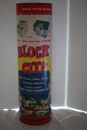 Block City Plastic Block Building Set, No. B 500, Tri-State Plastic Molding Co