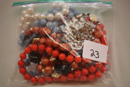 Assorted Vintage Costume Jewelry, Sandwich Bag
