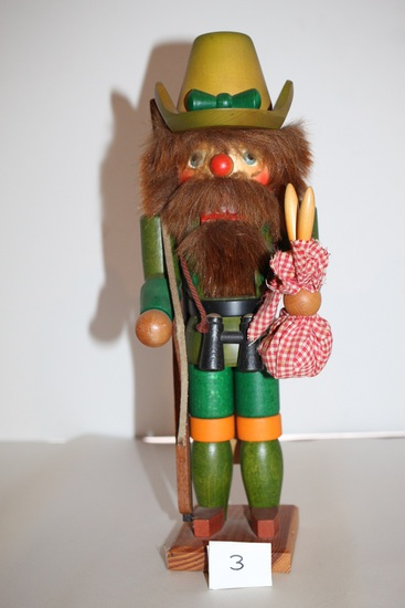 "Hand Made Nut Cracker, West Germany, 14"""