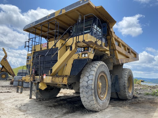 CATERPILLAR 777D OFF-ROAD DUMP TRUCK, P/N: CAT0777DUAGC02284, CAT TURBO DIESEL ENGINE, 7-SPEED