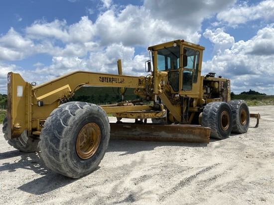 CATERPILLAR 16G MOTOR GRADER, P/N: 93U03547, CAT 3406 6-CYLINDER TURBO DIESEL ENGINE, 8 FORWARD &