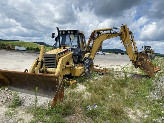 CATERPILLAR 446B 4X4 LOADER BACKHOE, S/N: 5BL02151, 7,242 HOURS SHOWING, CAT TURBO DIESEL ENGINE,