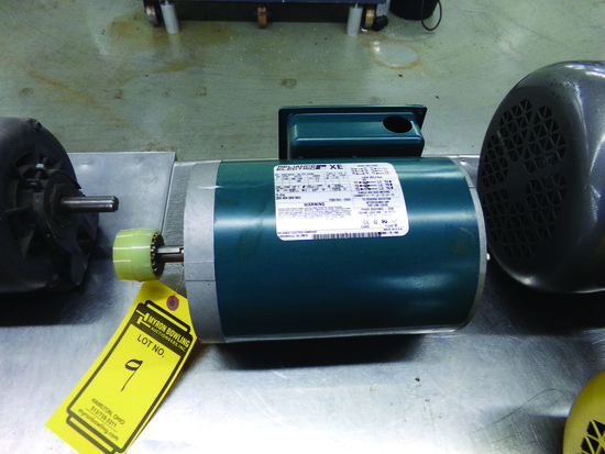 RELIANCE 1-HP ELECTRIC MOTOR 208/230 V., 3-PHASE, ID #P56X1531H