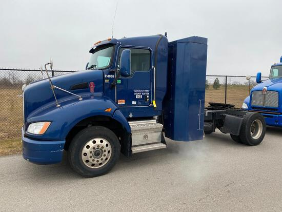 2014 KENWORTH T440 TRACTOR, SINGLE AXLE, DAY CAB, COMPRESSED NATURAL GAS (CNG), CUMMINS ISLG 320 CNG