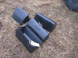 4 Black Hog Feeders