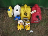 Lot of Gas Cans
