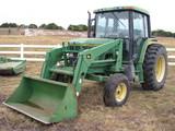 1998 John Deere Model 6400 Tractor with 620 Loader