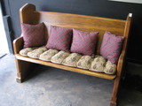 Oak Decon Bench made from Church Pew
