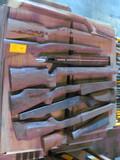 (7) Misc Walnut Gun Stocks