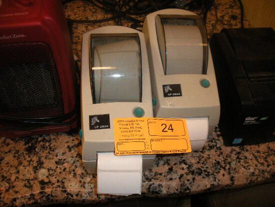 2 LP 2824 Lable Printers