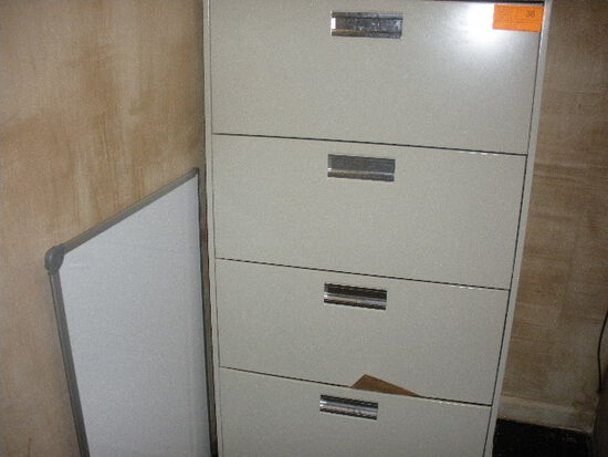 4 Drawer Lateral File Cabinet with Contents Office supplies