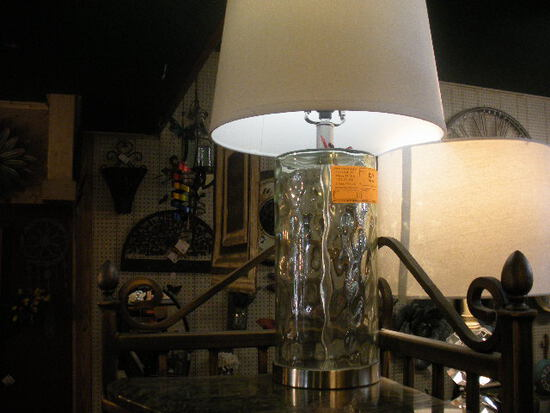 Round Glass Lamp