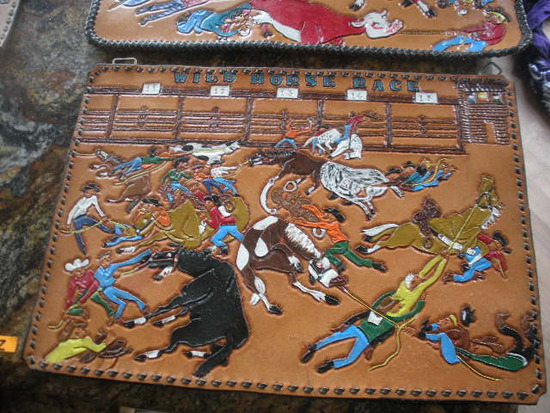 Hand Tooled Leather Rodeo Sceens