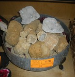 Metal Tub of Geodes