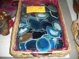 Basket of blue Agates