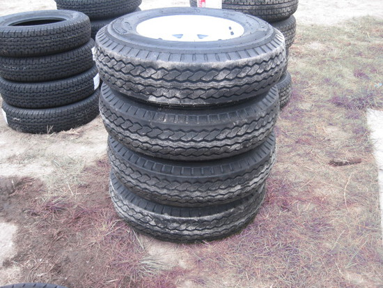 Fullrun ST205/90D15 Trailer Wheels and Tires new