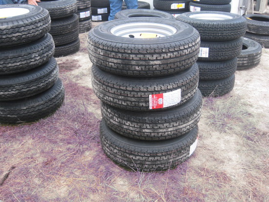 Master Track ST225/75R15 Trailer Wheels and Tires new