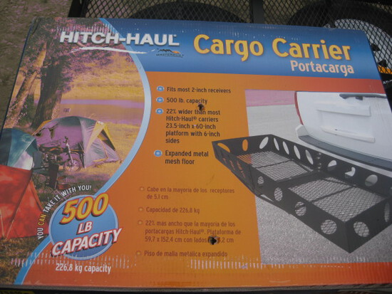 Hitch haul receiver cargo carrier