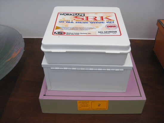Key Box Spill Kit and first aid kit