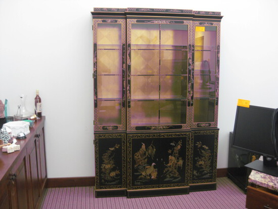 "Oriental Glass Display Cabent 55""x79"""
