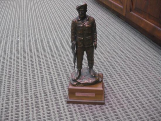 "Nathan R. Chapman Menorial Statue by Bob Pack  17"""