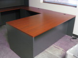 U-Shape Work Station Made by Lacasse Contents Not Inculded