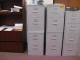 (6) 2-Drawer Metal File Cabinets