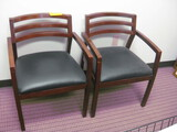 2 Wooden Side Chairs