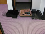 Answering Machine router and in and out trays
