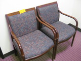 (2) Wooden Guest Chairs